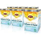 Lipton Infuse à Froid Mangue Rooibos, Eau froide infusée, Boisson d'été rafraichissante, Eau aromatisée healthy, 90 sachets P