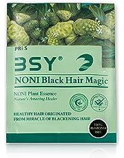 BSY Noni Black Hair Magic (20 ml X 10 Sachet) | Hair Dye | Hair Colour | Hair Shampoo