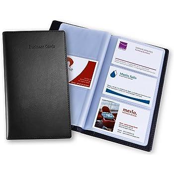 Sigel VZ171 Porte Cartes De Visite Jusqu 120 9 X 58 Cm Similicuir Noir