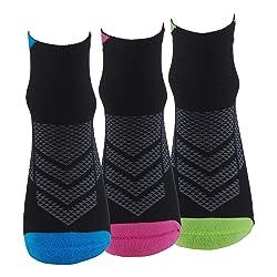 Calcetines 3 Pares de RUNNING CICLISMO TENIS PADEL Calcetines de mujer SIN COSTURAS con puntera y tal n reforzados Ca