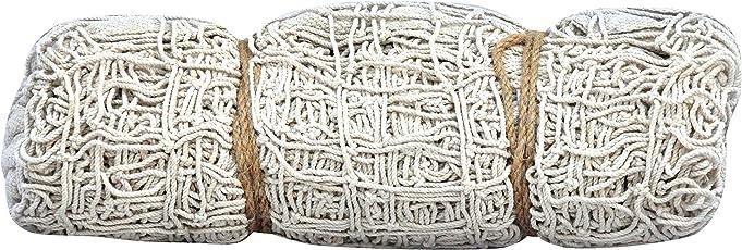 Henco Cotton One Star Volleyball Net, 32 feet x 3.25 feet (White)