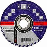SBS Inox doorslijpschijven, 125 x 1,0 mm, 100 stuks