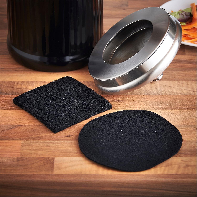 vonshef replacement 2 part carbon filter suitable for most kitchen compost bins amazoncouk kitchen u0026 home