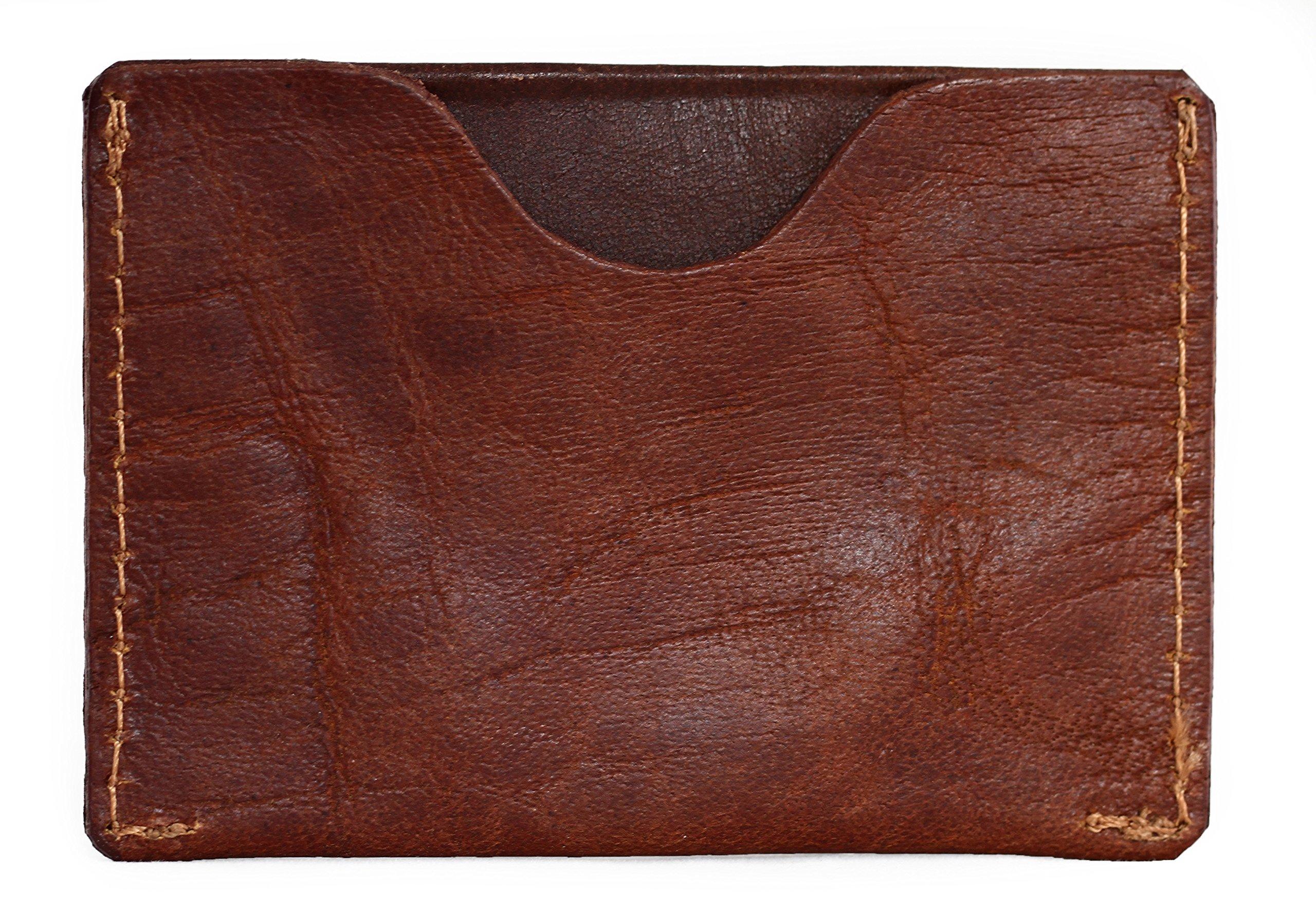 91XuVM7djuL - Gabin Tarjetero de Cuero marrón Tarjeta de crédito Tarjeta de fidelidad PAUL MARIUS