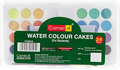 Camlin Kokuyo Student Water Color Cakes - 24 Shades