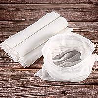 6 Paquets Tissu ou Sacs Mousseline Doux en Coton, Convient pour Filtrer les Fruits, le Beurre, le Vin, Filtre à Lait à…