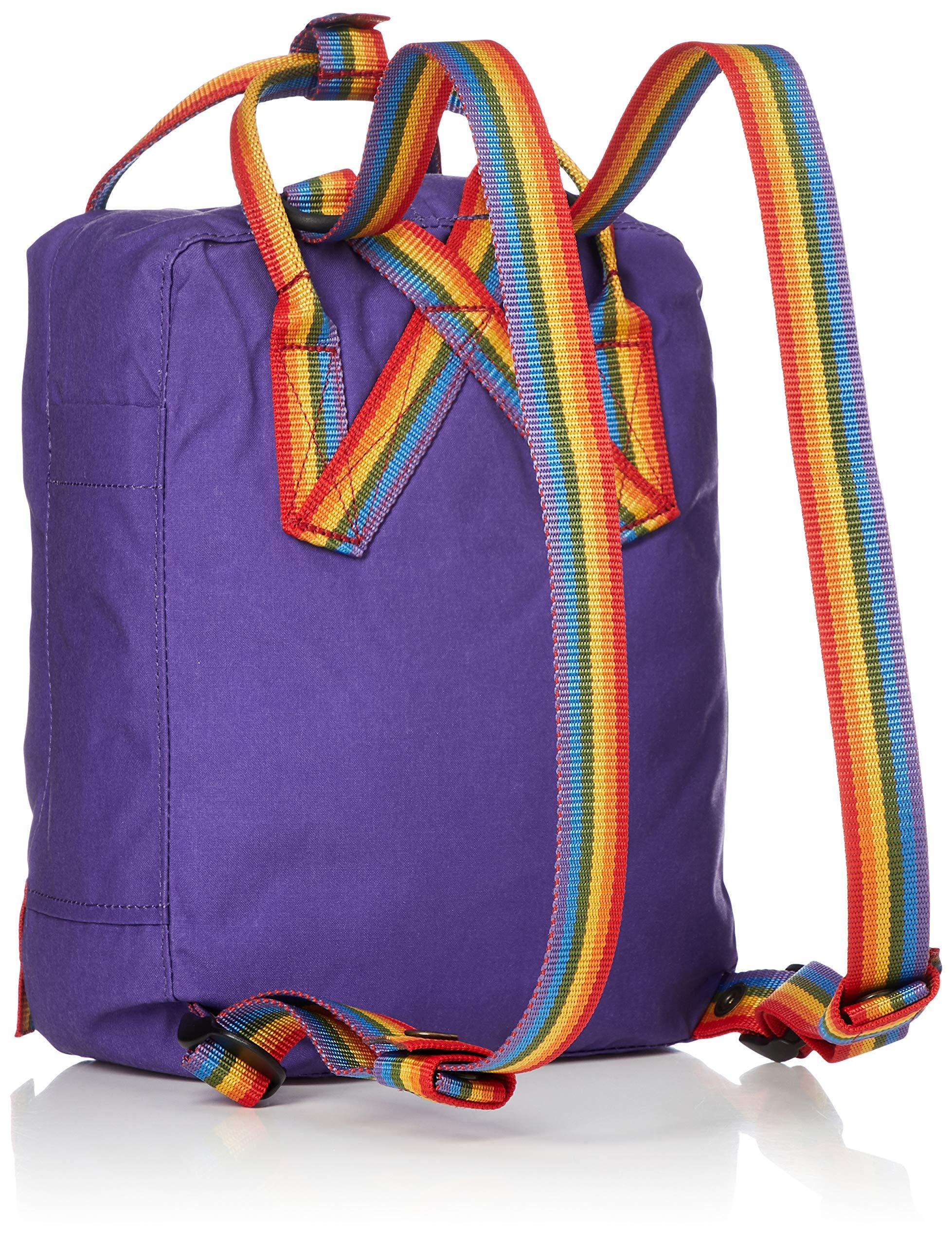 91Xvkx2U1dL - FJALLRAVEN Kånken Mini Mochila, Unisex Adulto, (Purple/Rainbow Pattern), Talla Única