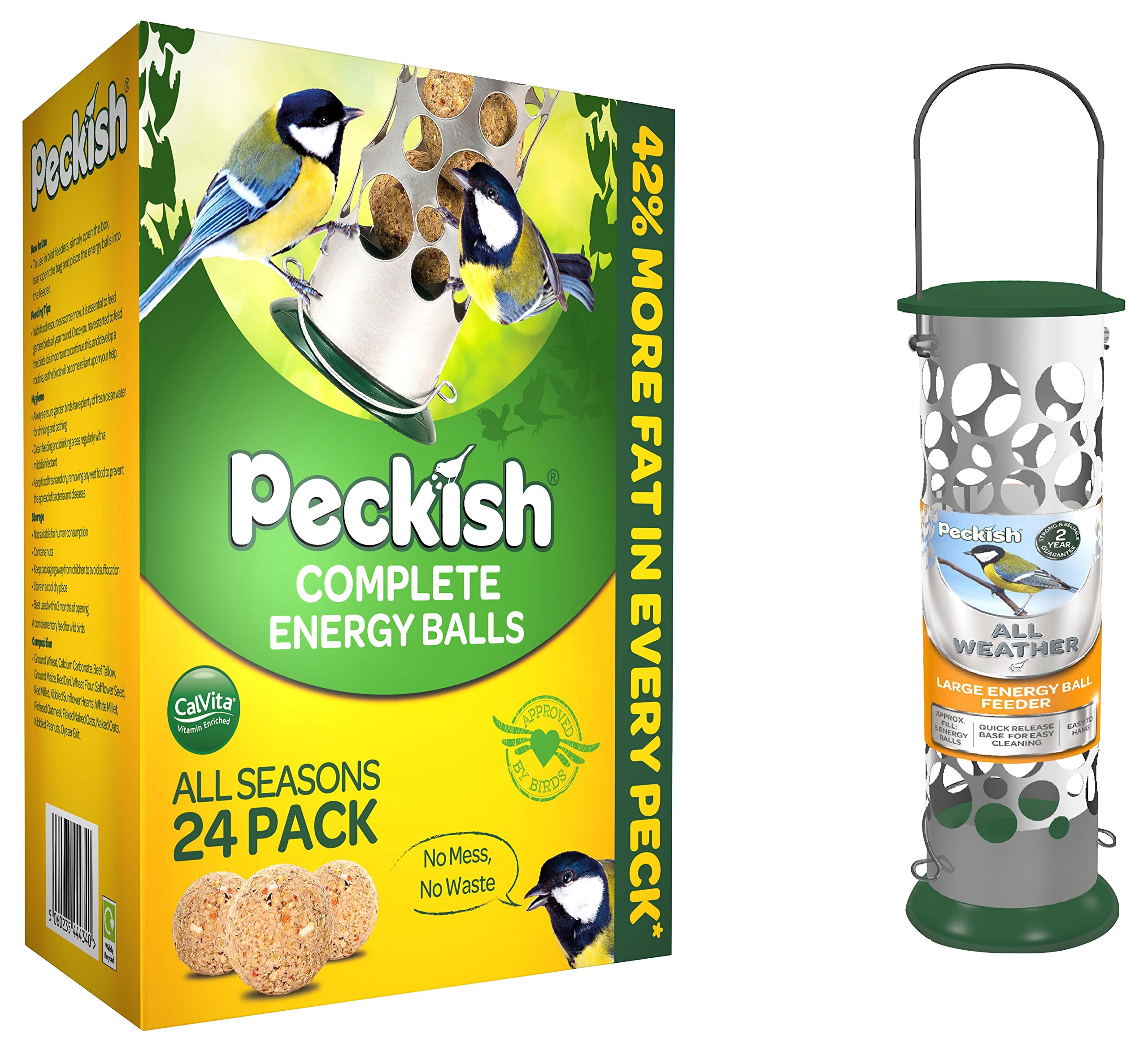 Peckish Complete Energy Suet Fat Balls for Wild Birds