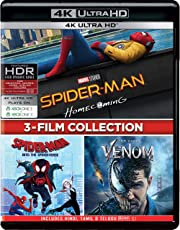 3-Movies Collection: Spider-Man: Homecoming + Spider-Man: Into the Spider-Verse + Venom (4K UHD) (3-Disc)