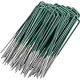 GardenMate 50 Kunstgrasgrondankers, half groen, thermisch verzinkt, gemaakt van staaldraad 150mm lang - 25mm breed - 2,9mm di