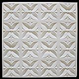 Panneaux textur/és faciles /à installer 30 x 30 cm Lot de 12 dalles de plafond /à d/écoller et /à coller /Échelle