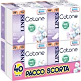 Lines Cotone BIO Assorbenti Ultra Giorno con Ali, PACCO SCORTA, Confezione da 40 Pezzi