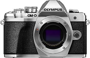 Olympus OM-D E-M10 Mark III Systemkamera (16 Megapixel, 5-Achsen VCM Bildstabilisator, elektronischer Sucher mit 2,36 Mio. OLED, 4k Video, WLAN) nur Gehäuse silber