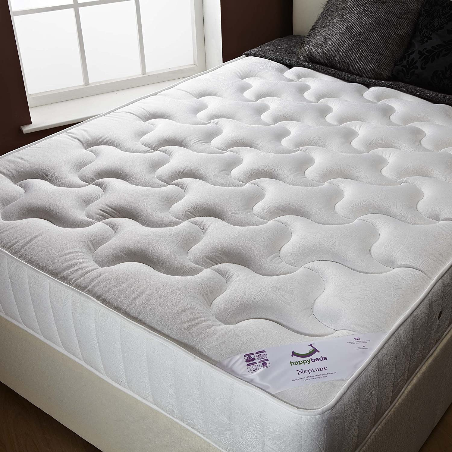 Neptune Bedroom Furniture Happy Beds Neptune Semi Orthopaedic Bonnell Spring Mattress