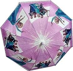 Dhinchak Girl's Fabric Artbox Girlish Print Umbrella Medium (Multicolour)