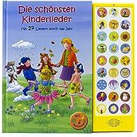 27-Button Soundbuch - Die schönsten Kinderlieder zum Mitsingen - Mit 27 Liedern durch das Jahr Hardcover-Buch mit Noten…
