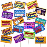 Party Propz Baby Shower Photo Booth for Party Decoration (Multicolour) - Set of 18 Pieces