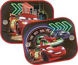 Disney Cars CASAA014 Cars Neon Sonnenschutz Bedruckt, 2 Stück