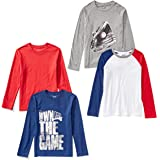 Spotted Zebra 4-Pack Long-Sleeve T-Shirts Niños, Pack de 4