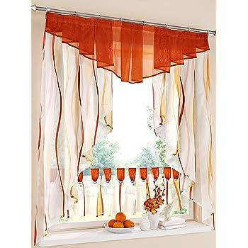 gingham mohnblumen rot wei e k chen vorh nge 115 x 12cm raffhalter. Black Bedroom Furniture Sets. Home Design Ideas