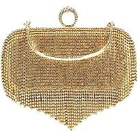 MEGAUK Damen Clutch Glitzer Elegant Abendtasche Glänzend Handtasche Envelope Tasche Strass Unterarmtasche mit Kette für…