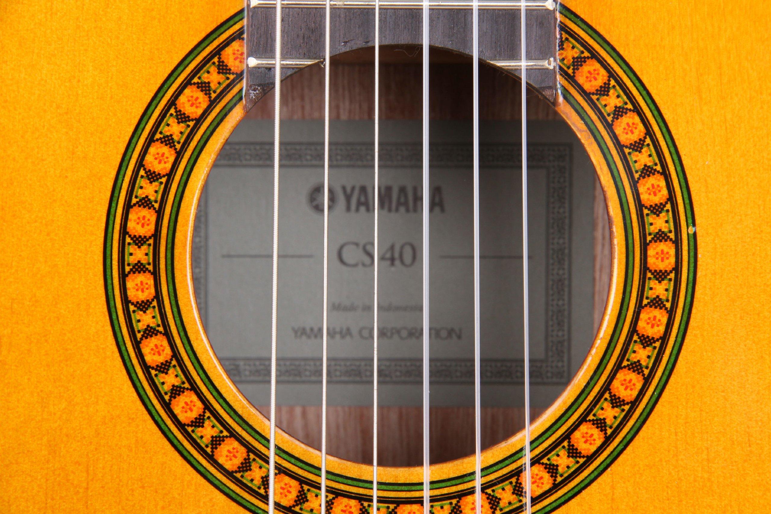 Yamaha CS40II Chitarra Classica 3/4, Chitarra in Legno (58 cm, scala da 22 13/16″), 6 Corde in Nylon, Naturale