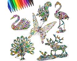 Dream Fun Puzzle 3D Bricolage Kits Artisanat pour Enfant Fille Garçon 6-12 Ans - Meilleur Cadeau et Jouets pour Enfants