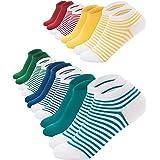 FOOTNOTE I 10 Paar I Sneaker Socken Ohne Gummi Ohne Naht Damen Herren Schwarz Weiß Bunt Pastell Orange-Rot Größen: 35 36 37 3