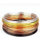 Creacraft Golden Autumn, aluminium sieradendraadset, 6 kleuren, 30 m (5 m per kleur) (1 mm)