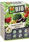 COMPO BIO Insekten-frei Neem, Bekämpfung von Schädlingen (u.a. Buchsbaumzünsler) an Zierpflanzen, Kartoffeln, Gemüse und Kräutern, 30 ml, 120m²