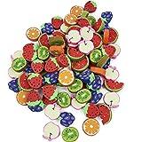 THE TWIDDLERS 96 Mini Gomme da Cancellare di Frutta per Bambini  Scuola, Ricompense in Classe, Gadget per Feste Compleanno, P