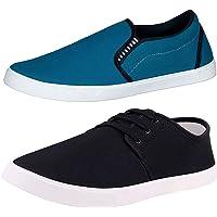 Chevit Men's Casual Shoes (Set of 2 Pairs)