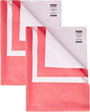 Amazon Brand - Solimo Baby Water Resistant Dry Sheet, Small, 70cm x 50cm, Dark Pink, Set of 2