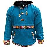 Shopoholic Moda Completamente fodera in pile Woffle Maglione,Super caldo Hippie Felpa con cappuccio