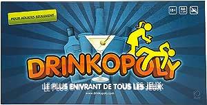 Drinkopoly - le roi de jeux à boire - un jeu de plateau/table combiné, pour les adultes et étudiants, comprennant 50 cartes d' activités, un jeu à boire ensemble-cadeau