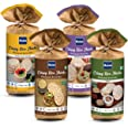 HAIM Organic Crispy Rice Thick Wholegrain Brown Rice Cakes with (Original Unsalted), (Multigrain),(Buckwheat & Amaranth) & (Q