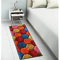 Creative Idea Polyester Multicolor Carpet 3x5 Ft cm Pack of 1