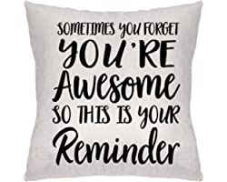 Lecent Throw Pillow Covers-Inspirational Gifts for Women, Sometimes You Forget You're Awesome So This Is Your Reminder, Birth
