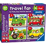 Ravensburger Travel Far, My First Jigsaw Puzzles (2, 3, 4 & 5 Piece) Educational Toys for Toddlers Age 18 Months and Up