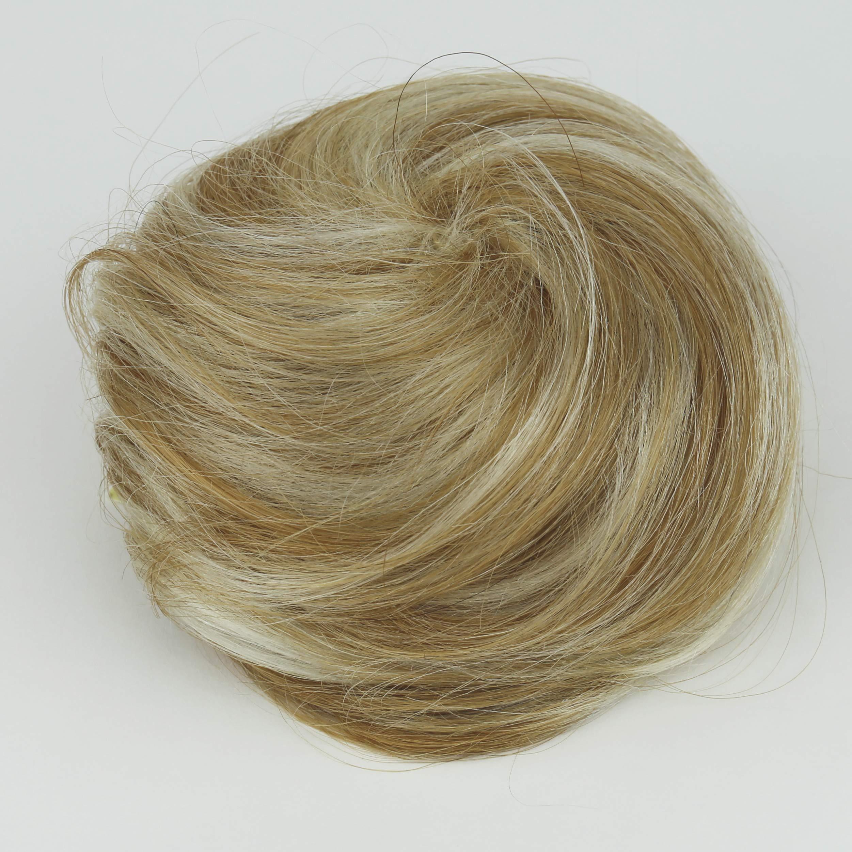 100 Echthaar Human Hair Haargummi Haarknoten Haarteil