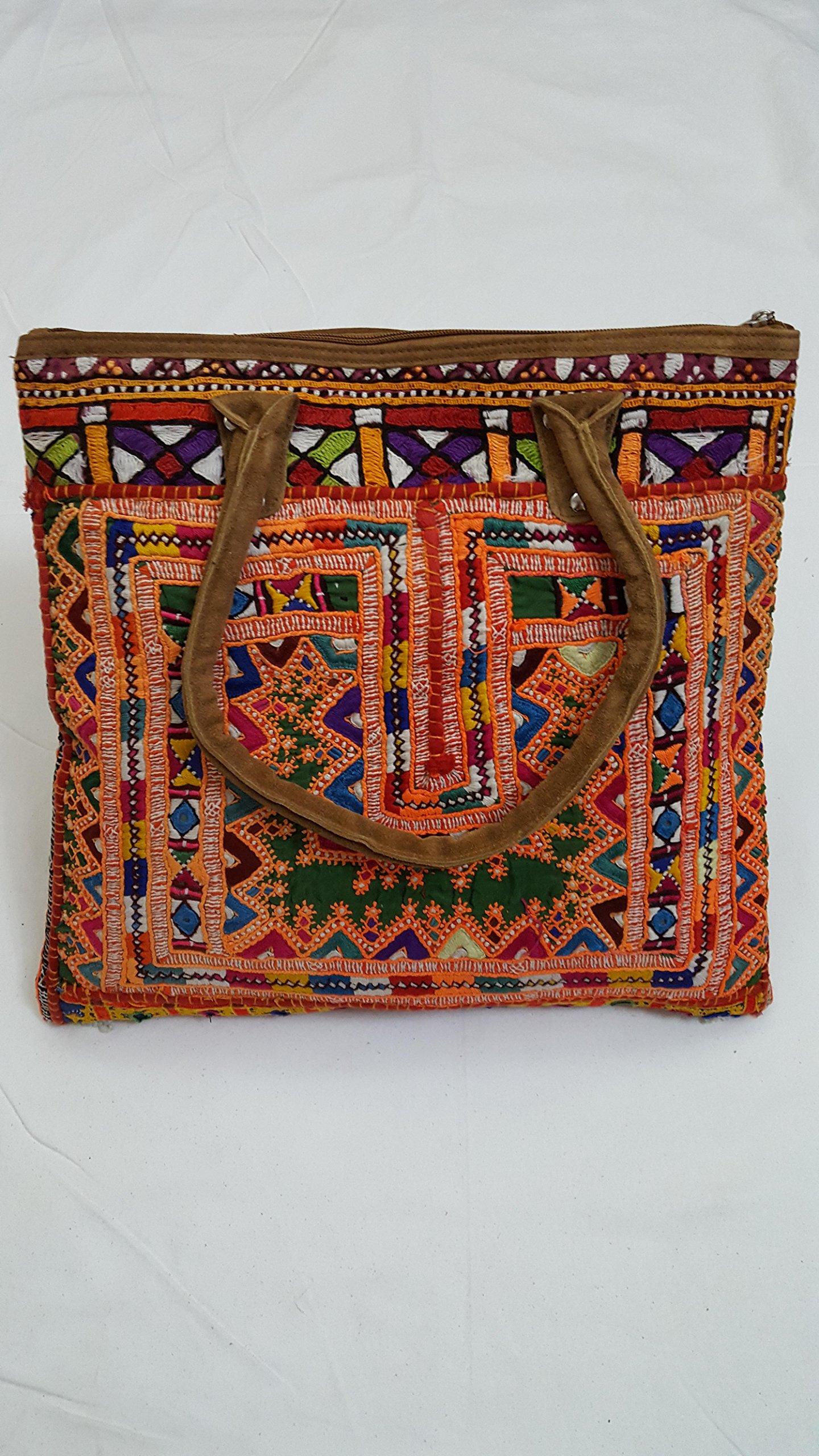 Shoulder Handle bag/Leather Bag/patchwork bag - handmade-bags