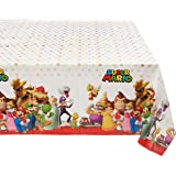 """Amscan 571554 Super Mario Brothers™ Multicolor Plastic Table Cover, Party Favor 54"""" x 96"""" 1 ct"""