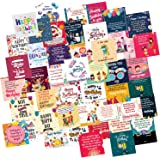 ODDCLICK Set of 48 Birthday Cards for Explosion Box or Other DIY(Do It Yourself) Birthday Greeting Cards 3X3 Inches…