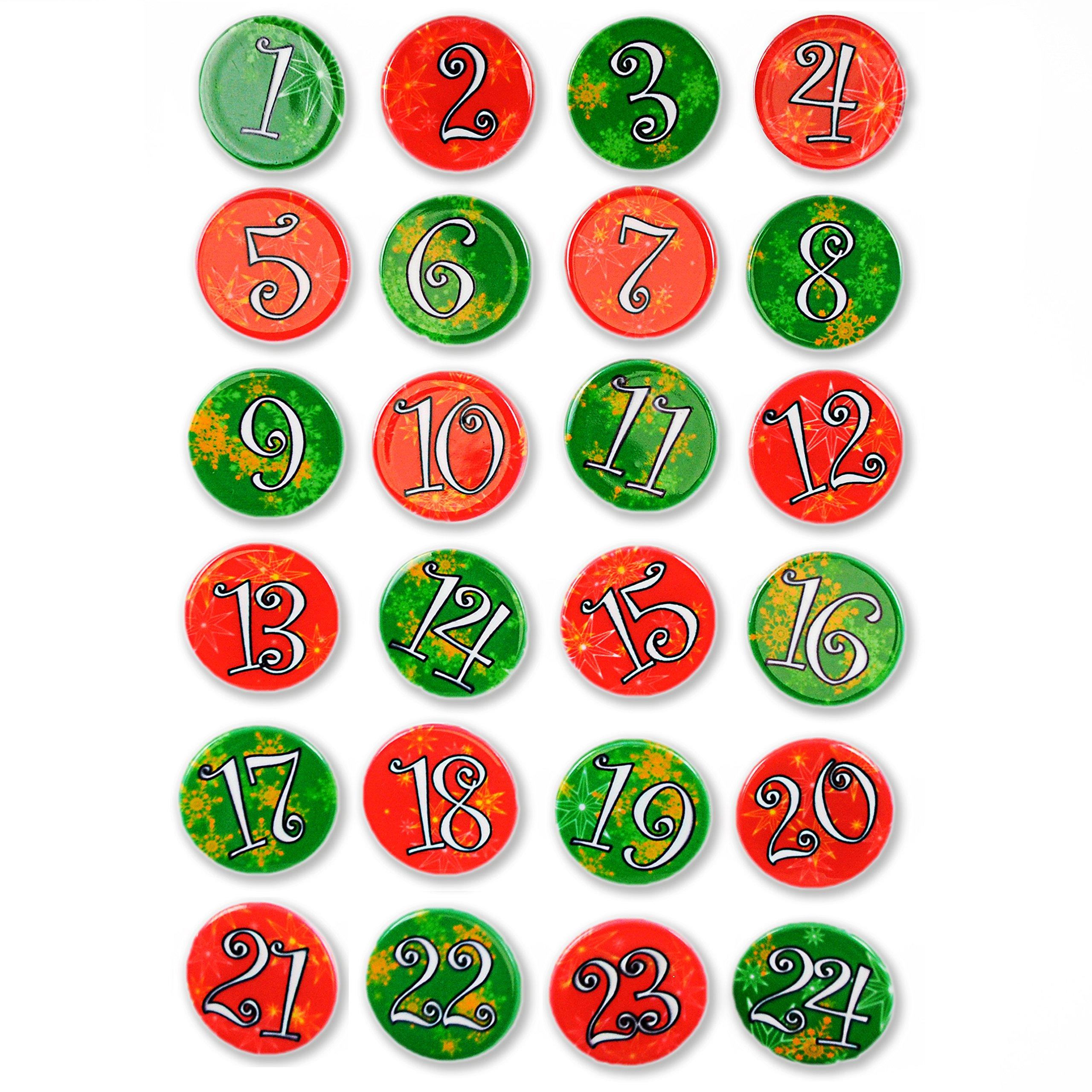 Numeri Per Calendario Avvento.Dettagli Su Calendario Dell Avvento Bottoni Colorati 24 Pezzi In Un Set Numeri T2l