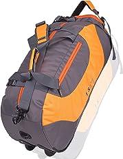 Istorm Polyester Orange & Grey Travel Duffles