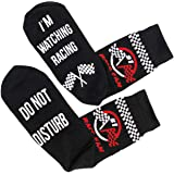 'Shhh I'm Watching Racing' Funny Lounge/ankle Socks - Great gift for racing fans