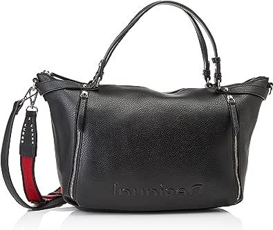 Desigual Womens BOLS_Embossed Half LIBIA Hand Bag, Black, One Size