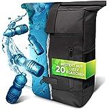 invilus ® - Rolltop Rucksack Damen und Herren aus Recycelten Plastikflaschen   Rucksack Uni   Laptop Rucksack   Rucksäcke Dam