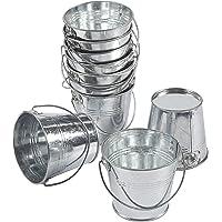 Juvale Petits seaux en métal avec poignées (lot de 10) – Idéal pour les projets d'artisanat, les cadeaux de fête, les…
