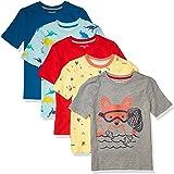 Amazon Essentials Camisetas de Manga Corta Niños, Pack de 5